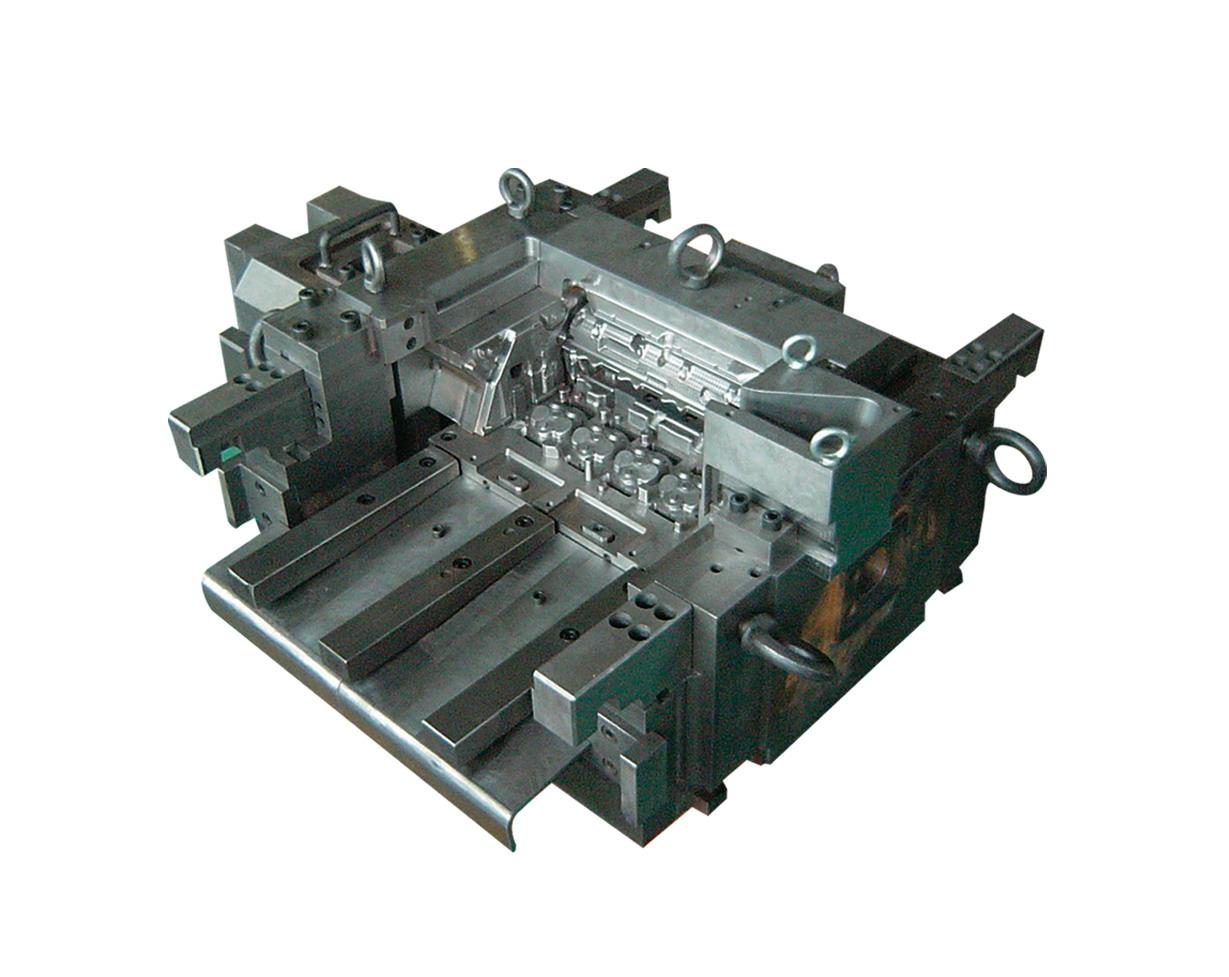 到客户的满意,其中开发设计,制作的at-f460变速箱壳体压铸模具,2.